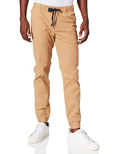 Tommy Jeans TJM Scanton Dobby Jog Pant REG Length Pantalon de survtement, Beige, S (régulier) Homme