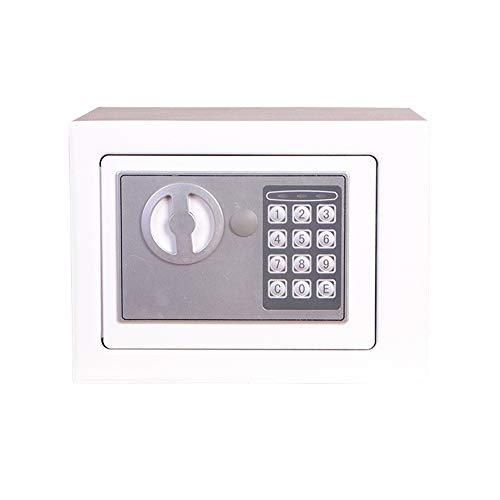 Tollmllom Elektronischer Safe Digital Safe Stahl Elektronischer Safe Geldsperre Schmuck Sicher Kabinett Tresor (Farbe : Pearl White, Size : 22x17x17cm)