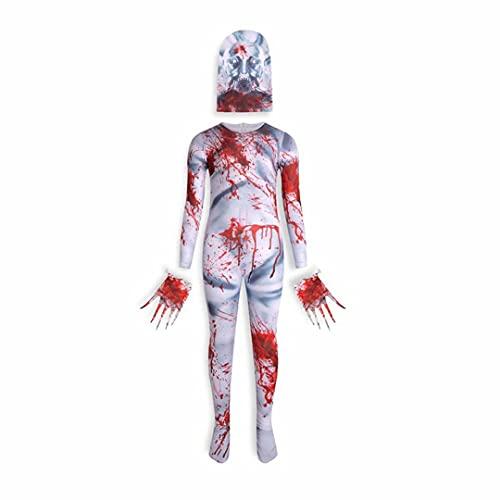 SCP 096 Disfraz de Cosplay Nio Scary Halloween Cosplay Escultura Espeluznante Horror Monster Medias Pieza Monos Nios Terrible Monster Disfraz Mamelucos para decoracin de Halloween