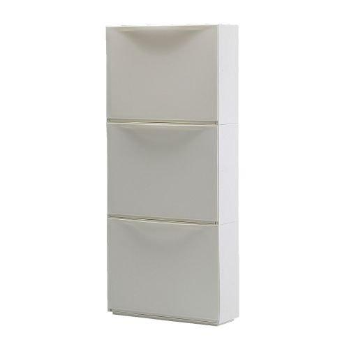 TRONES シューズキャビネット/収納, ホワイト / 3 ピース IKEA イケア