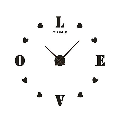 LNLW Bricolaje Creativo Reloj de Pared Relojes Movimiento con Pilas de Marco hogar Digital Accesorio