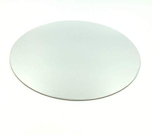 10 unidades.Cartón para tarta de 30cm de diámetro, 3mm de ancho, revestimiento para tarta, base para tartas, cortador plateado redondo