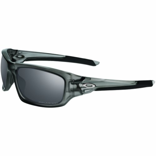 Oakley Men's OO9236 Valve Rectangular Sunglasses, Matte Grey Smoke/Black Iridium Polarized, 60 mm