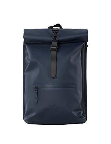 Rains Rolltop Bag Blue Rucksack
