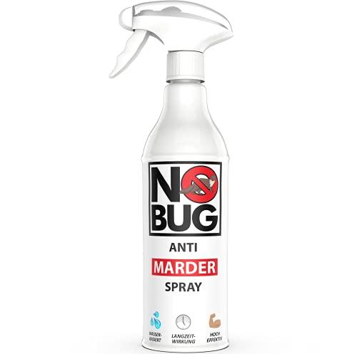NoBug Marderabwehr Spray 500ml - Marderschutz für Auto & Dachboden - Marderspray mit Sofort- & Langzeit-Wirkung - Marderschreck Auto - Effektiv gegen Marder