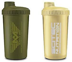 Scitec Nutrition - 2 x Shaker 700ml (2er Pack) - Army Grün & Army Sand