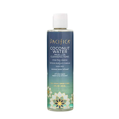 Pacifica Beauty Water Micellar Cleansing Tonic for All Skin Types, Coconut, 8 Fl Oz