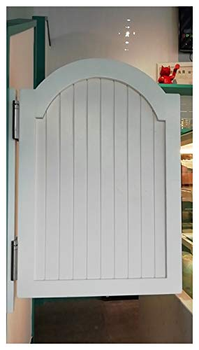 Saloon Swinging Doors, Cafe Doors Solid Wood Fence Half Waist Door Cowboy Fence Gate Automatic Closure Customizable (Color : A, Size : 60x90cm)