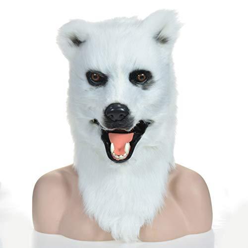 Personalidad, específica del partido Máscaras de animales realistas Oso blanco realista animal en movimiento máscara de la boca con motor máscara de la boca al por mayor diseño OEM fabricación fábrica