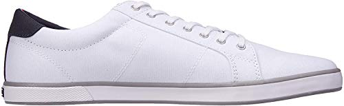 Tommy Hilfiger Herren H2285arlow 1d Low-Top, Weiß (Bianco), 43 EU