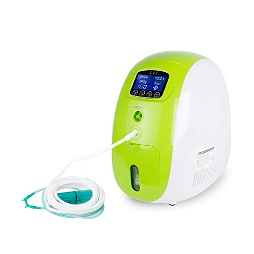 DZWJ Generador de oxígeno de 1 a 5 litros, concentración del 93% Portátil Familia Anciana Embarazada de respiración Inhalador de oxígeno