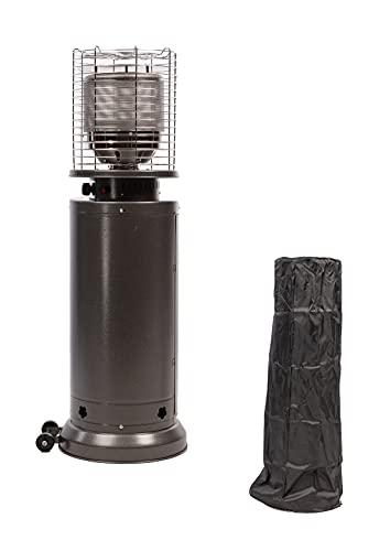 MaxxGarden - Calefactor de gas para terraza (11 KW, con regulador de gas, ruedas y funda protectora, 142 cm de altura)