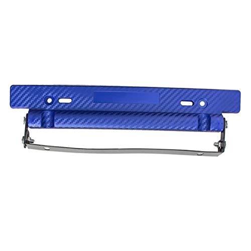 YLG Auto Car Styling Pegatinas Marco de la matrícula Modificado for V-W Po-lo Je-TTA A-yo-ta Cor-OL-la Mer-CE-Des W-203 S-AB REN-Ault D-a-CIA Dus-TER (Color : 1pcs Blue, Size : Gratis)