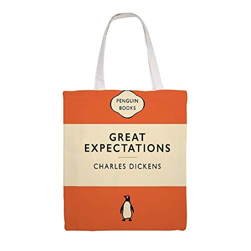 Great Martin Canvas Tote Bag Penguin Classics Great Expectations Eco Friendly Reusable Grocery Gift Friend Shoulder Bag