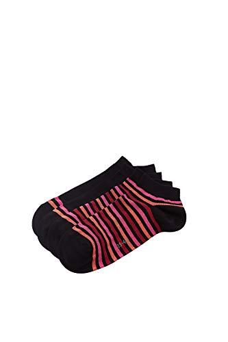 ESPRIT Damen Multi Stripe 2-Pack W SN Hausschuh-Socken, Schwarz (Black 3000), 39-42 (2er Pack)