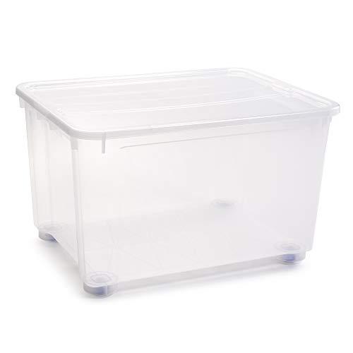 PLASTIC FORTE, Caja de almacenamiento, Multicolor, 150 litros, con ruedas