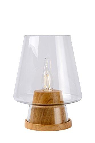 Lucide GLENN - Lampe De Table - Ø 19 cm - Bois