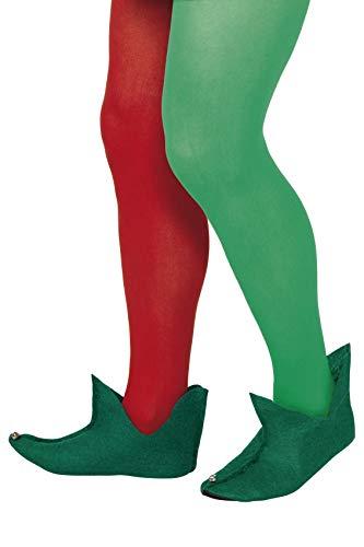 SMIFFYS Smiffy's Stivali da elfo, Verde Uomo, Colore dorato, Taglia unica, 21449