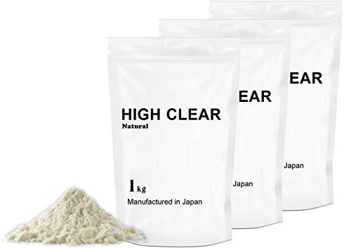 【100%無添加】WPCホエイプロテイン100 【120食分】1㎏×3個セット ナチュラル HIGH CLEAR