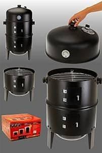 3 in 1 Räucherofen - Grill zum Braten, Grillen und Räuchern - mit Termperaturanzeige - BBQ