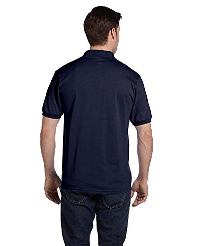 Hanes Adult ComfortBlend EcoSmart Jersey Polo Shirt, Deep Royal, XX-Large