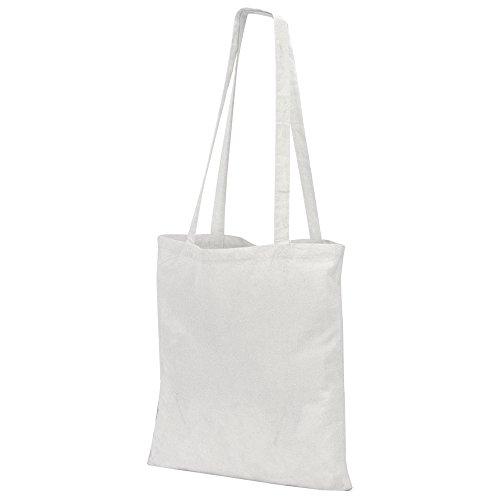 Jassz Bags Budget Einkaufstasche mit Langen Henkeln (Einheitsgröße) (Schnee Weiß)