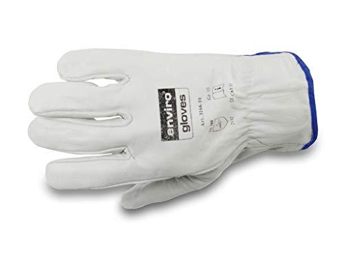 enviro Glove Rindnappaleder-Handschuh - Baustellen-Arbeitshandschuhe - Maurerhandschuhe - in Größe 10 im 12er Pack