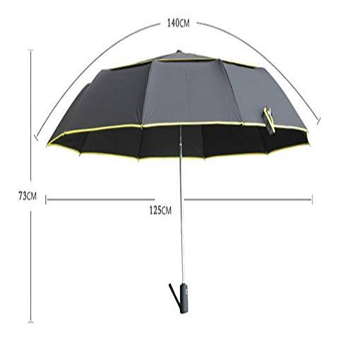 LUOJIN Regenschirm Vollautomatische, super Winddichte, hochwertige Regenschirm-Werbeartikel, 黑色