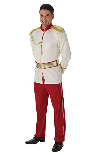 Disney - Disfraz de Príncipe de Cenicienta para hombre, Talla única adulto (Rubie's 810942)