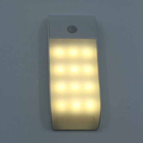 Nachtlicht FeiliandaJJ USB LED Mini Ultradünnes Schranklicht Energiesparen Induktion Nachtlichter Schlafzimmer Bett Lampe Kind Baby Zimmer (Gelb)