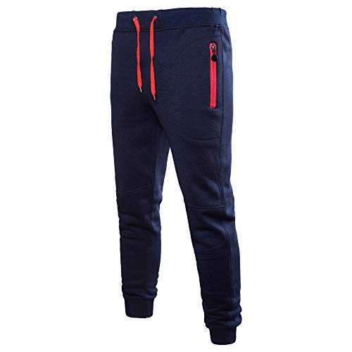FIRSS Männer Taschen Hosen | Tunnelzug Jeanshosen | Sport Jogginghose | Sportlicher Sweatpants | Cargo Winterhose | Mode Elegante Llässig Pants