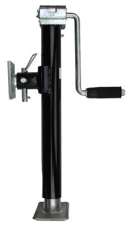 leisure MART Side winder trailer lift and support jack with swivel mounting plate 1265kg Pt no. LMX1172