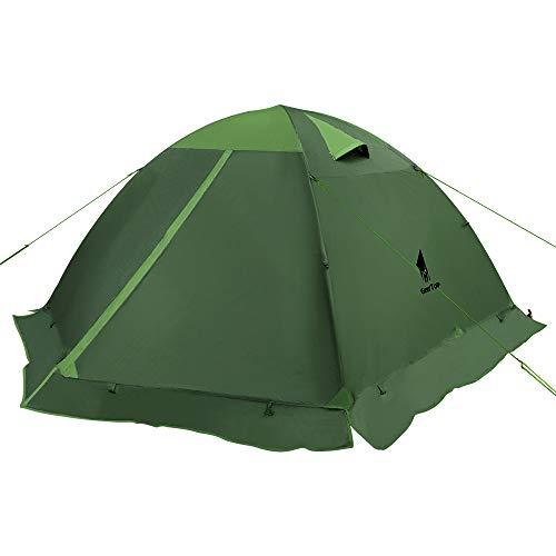 GEERTOP Zelt für 3 Personen, 4 Jahreszeiten, Rucksackreisen, Zelt, für Camping, Wandern, Outdoor, Überlebensausrüstung, Amy Green