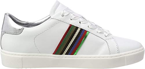 Maripe Damen 26210-P Sneaker, Weiß (Agnelotto Bianco/Luxor 61), 39 EU
