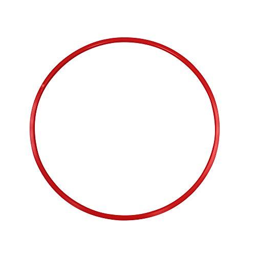 Grevinga Gymnastikreifen Hula-Hoop Reifen 70 cm Durchmesser Farbe: rot - 112034-01