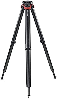 "Sachtler Flowtech 75 MS 3-Section Carbon Fiber Tripod with Mid-Level Spreader and Rubber Feet, 60"" Maximum Height, 44 lbs Capacity"