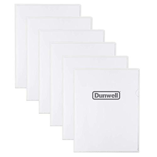 """Dunwell Clear Plastic Sleeves (36 Pack), 8.5x11"""" Letter Size, Clear Poly Document Folders Transparent Plastic File Pockets, Poly Project Jacket, Plastic Document Sleeves, Archival Quality"""