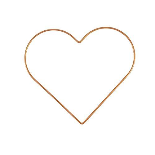 Vaessen Creative Metal en Forma de Corazón, Dorado, 25 cm x 3 mm, para Manualidades, Aro Atrapasueños, Anillo de Guirnalda para Tapiz de Macramé, Ganchillo y Decoraciones Nupciales, 25 cm