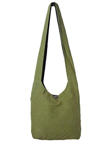 Vishes - Stoff Shopper Stofftasche Einkaufstasche Umhängetasche große Beuteltasche Schultertasche - Damen Herren Olive