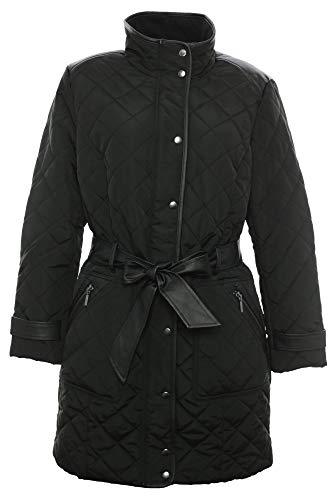Sheego Steppmantel Kurzmantel Mantel Parka Wintermantel Jacke Damen Plusgröße, Farbe:schwarz, Damengrößen:46
