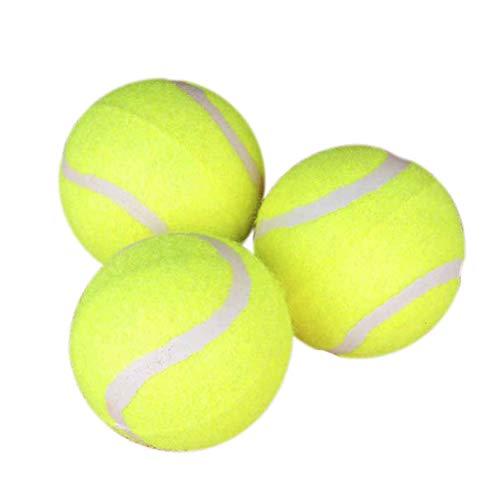 POPETPOP 3pcs Dog Palla da Tennis Gigante Pet Giocattoli per Cane da Masticare Giocattolo Palla per Cane Forniture per l'addestramento