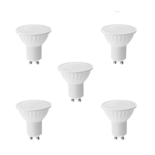 Lámpara Bombilla LED 9W GU10, Luz cálida 3000K, 600Lúmenes, (5-Unidades)