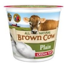 Brown Cow West Plain Smooth and Creamy Cream Top Whole Milk Yogurt, 6 Ounce -- 12 per case.