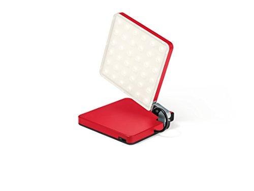 Nimbus Roxxane Fly, Design Lampe, akku-betrieben, kabellos, tragbar, kompakt, klappbare LED-Leuchte, magnetisch, touch dimmbar, 400 Lumen, rot