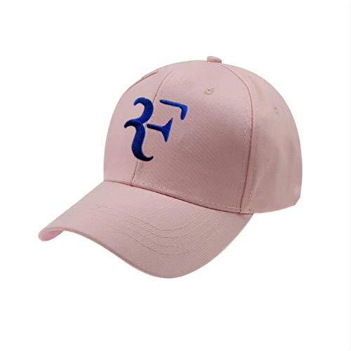 NZMAOZI Cap Schreiben Stickerei 3D F-Vati-Hut-Qualitäts-Tennisstar Roger Federer Baseballmütze Outdoor Sports Snapback Männer Cap Hip Hop-Knochen,Rosa,EIN