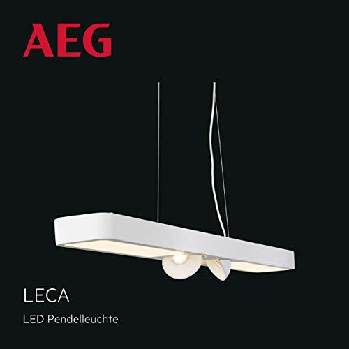Leca LED Pendelleuchte 108cm 4 flammig weiß, stufenlos dimmbar über Wanddimmer, 9 Watt, 850 Lumen, 3000 Kelvin