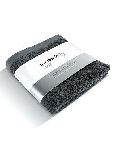 herzbach home Luxus Handtuch Premium Qualität aus 100{25c77a36f9de8f99bf3182f0f1ba4e7aa73bdd6c95a82281c7d973185de96776} ägyptische Baumwolle 50 x 100 cm 600 g/m² extra weich (Anthrazit)