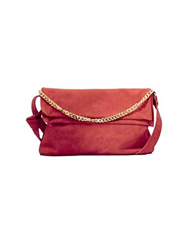 LPB WOMAN TERRACOTTA W17B0302 Shoulder Bag and Chain Red Size: One Size