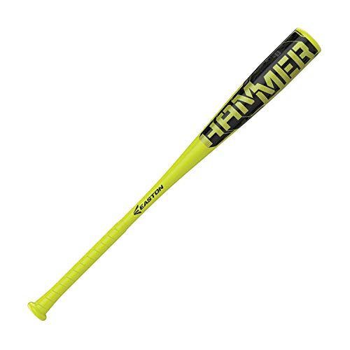 """EASTON Hammer -8 (2 5/8"""") USA Youth Baseball Bat   28 inch / 20 oz   2019   1 Piece Aluminum   ALX50 Alloy   Cushioned FLEX Grip"""