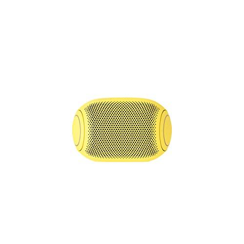 LG XBOOM Go PL2S Amarillo - Altavoz Bluetooth de 5W de Potencia con Sonido Meridian, autonomía 10 Horas, Bluetooth 5.0, protección IPX5, USB-C, comandos de Voz Google y Siri